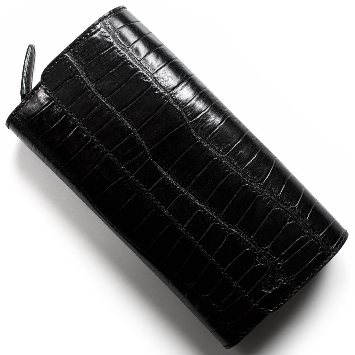 フェリージ 長財布 財布 メンズ クロコ型押し ブラック 447 SA 0003 FELISI