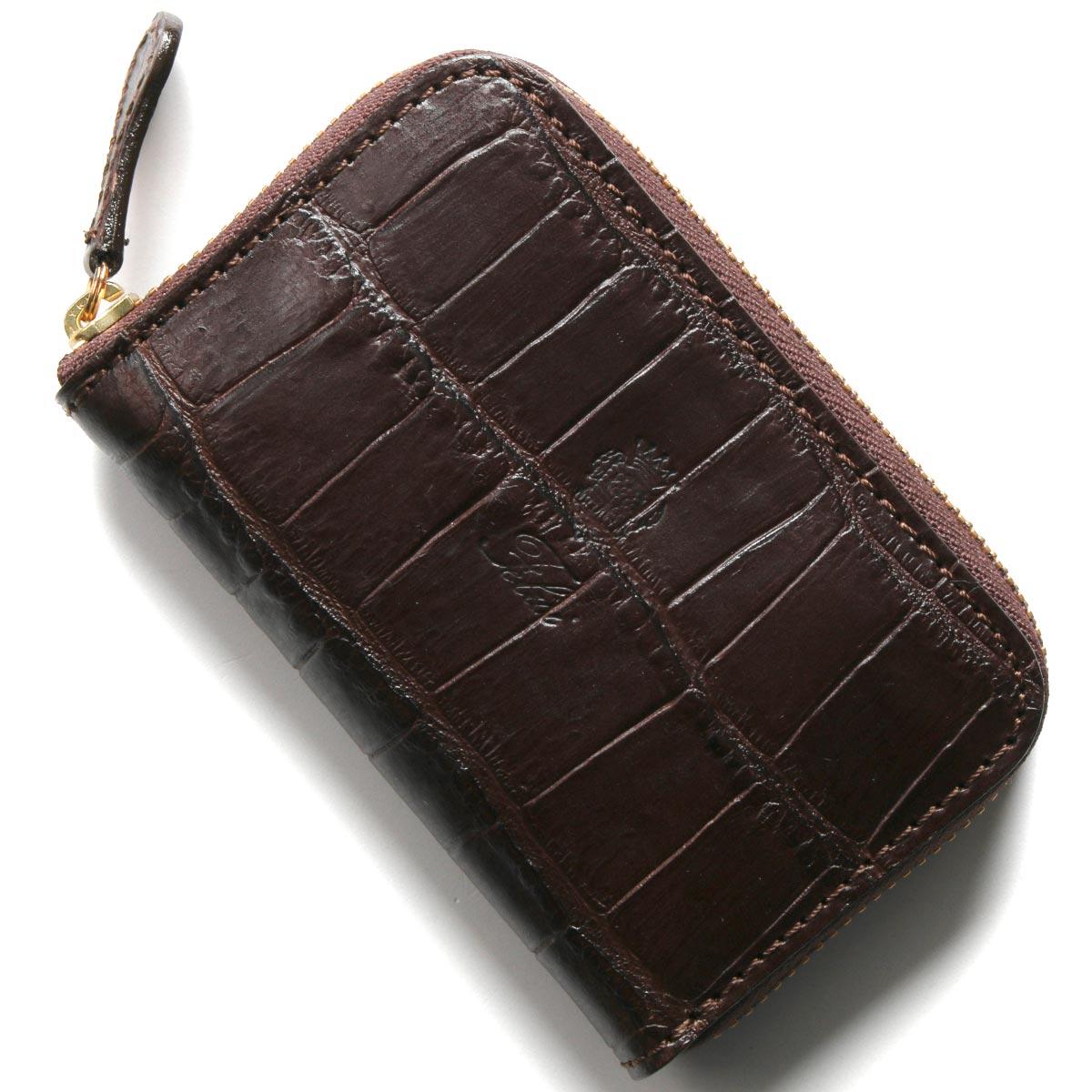 フェリージ コインケース【小銭入れ】 財布 メンズ クロコ型押し モロダークブラウン 905 SA 0002 FELISI