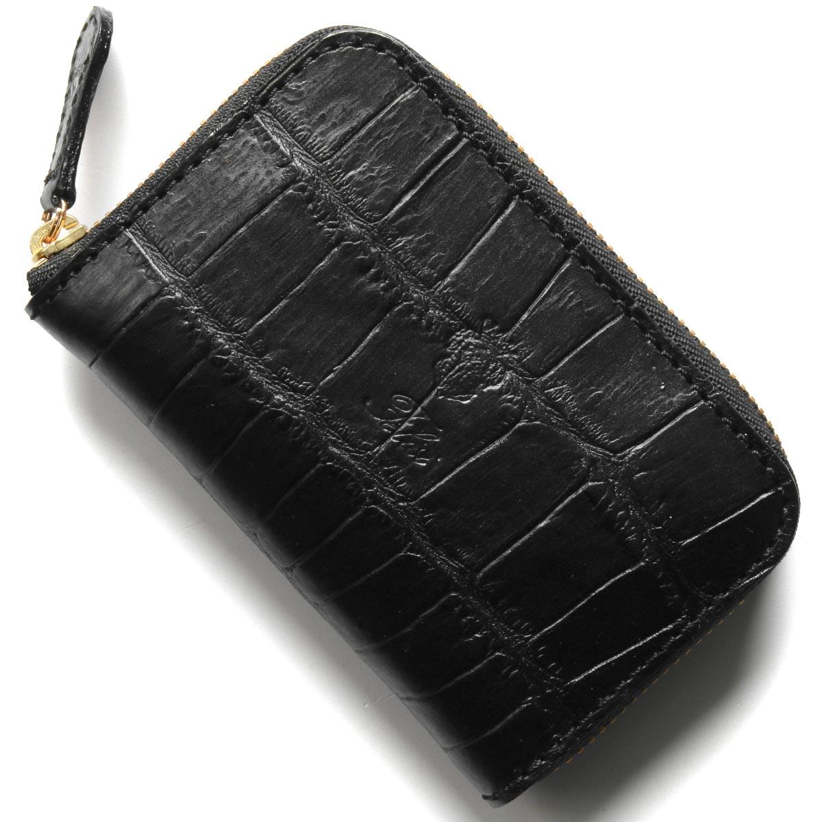 フェリージ コインケース【小銭入れ】 財布 メンズ クロコ型押し ブラック 905 SA 0003 FELISI