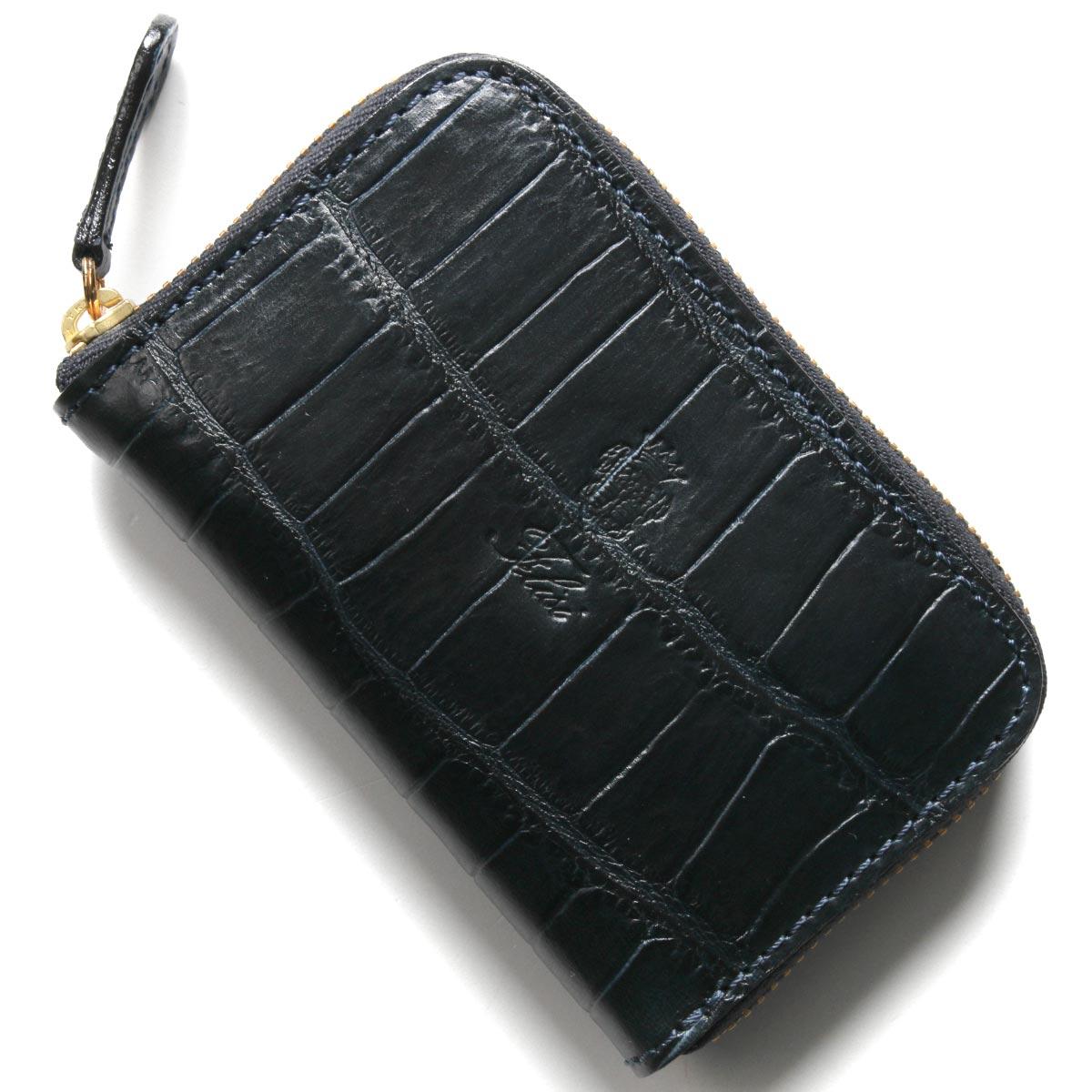 フェリージ コインケース【小銭入れ】 財布 メンズ クロコ型押し ネイビーブルー 905 SA 0005 FELISI