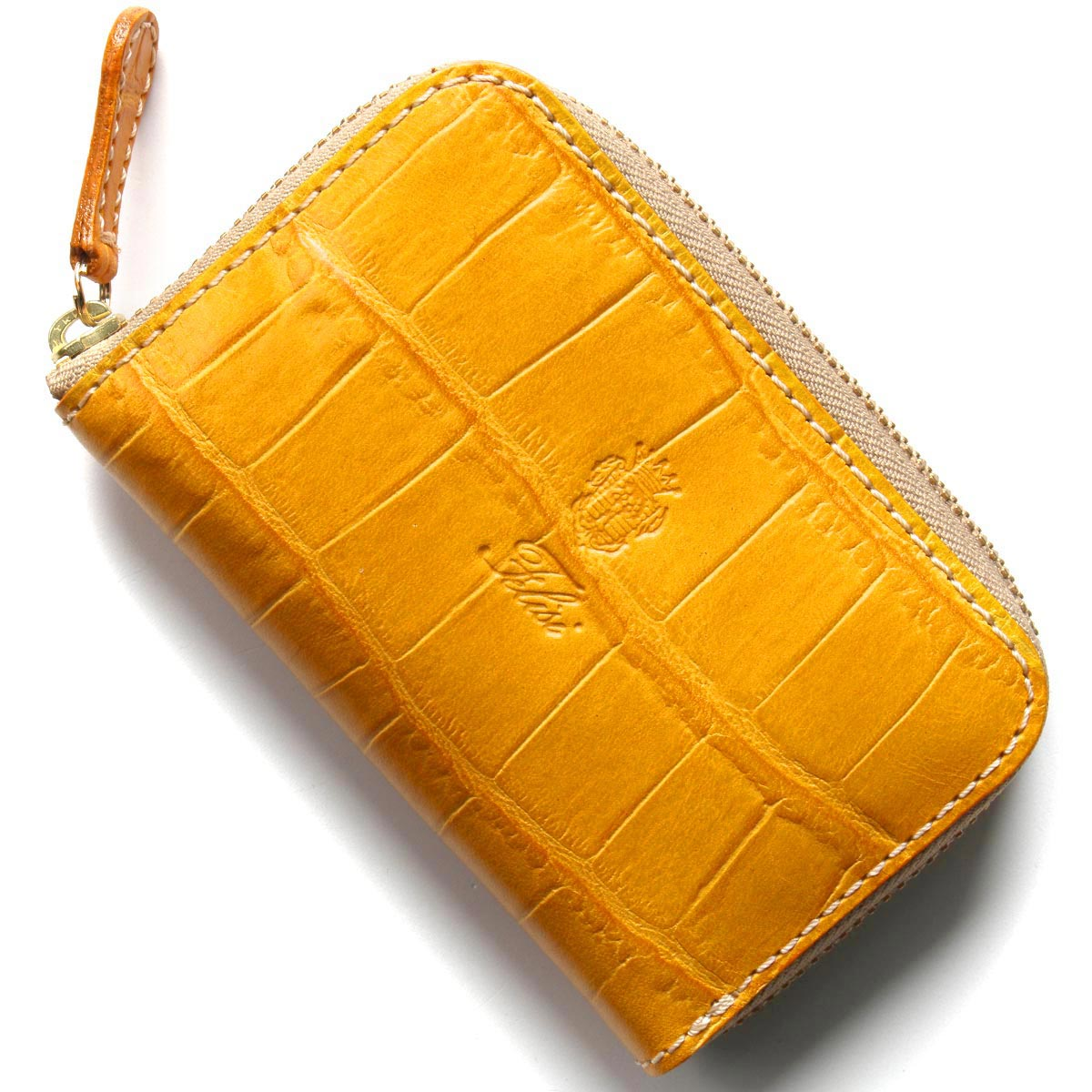 フェリージ コインケース【小銭入れ】 財布 メンズ クロコ型押し ジャッロイエロー 905 SA 0007 FELISI