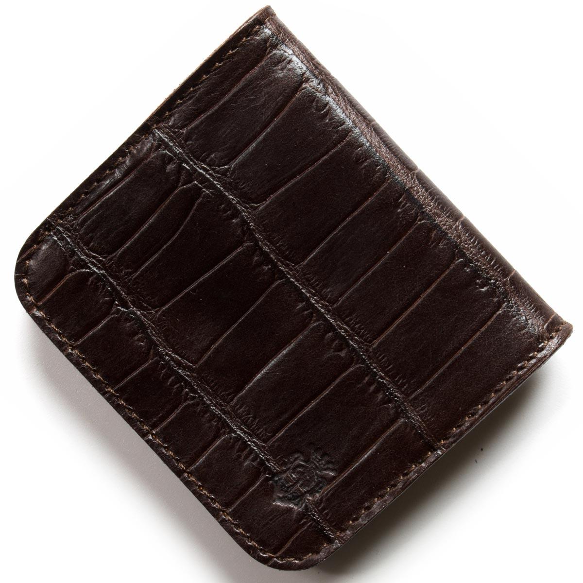 フェリージ コインケース【小銭入れ】 財布 メンズ クロコ型押し モロダークブラウン 914 SA 0002 FELISI