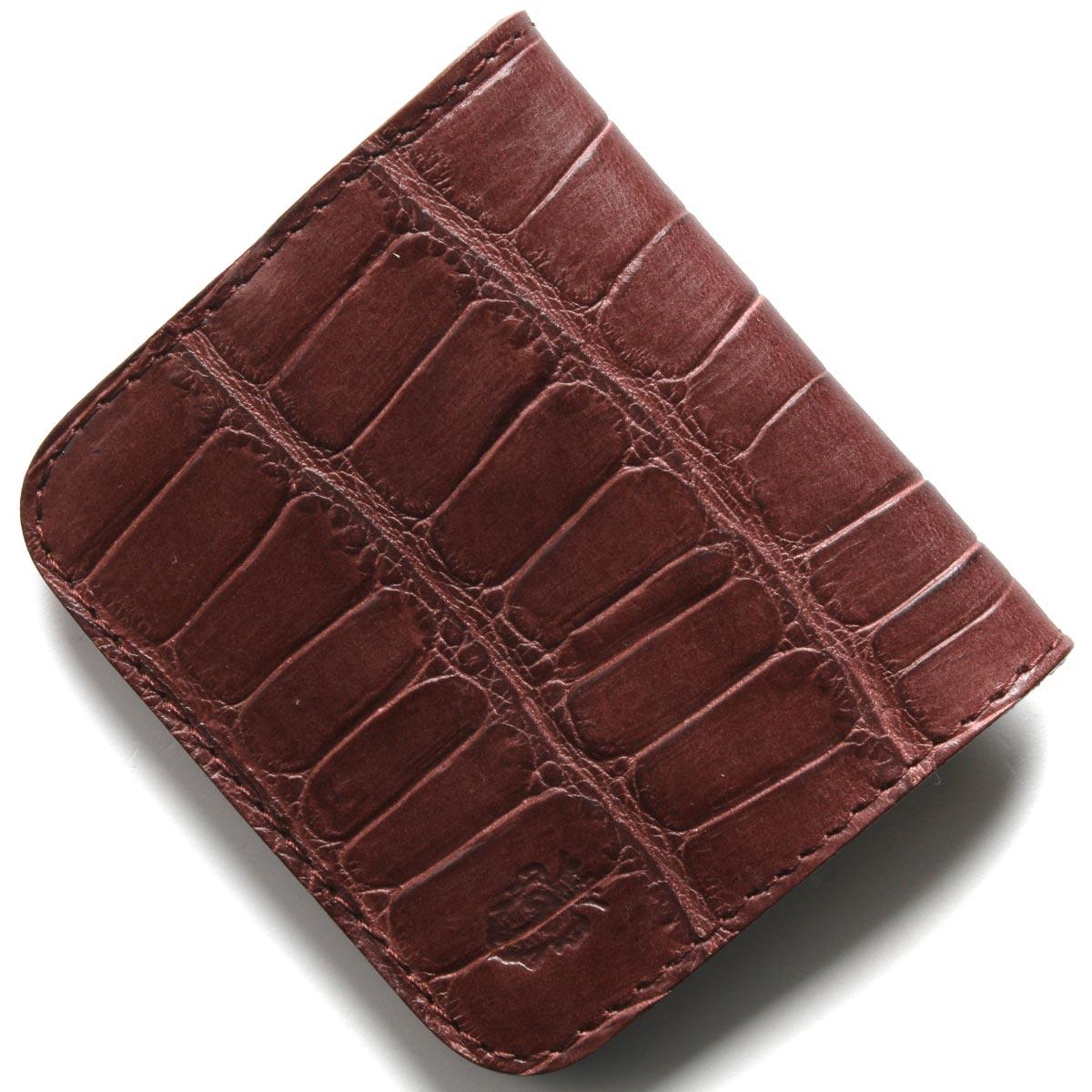 フェリージ コインケース【小銭入れ】 財布 メンズ クロコ型押し ボルドー 914 SA 0026 FELISI