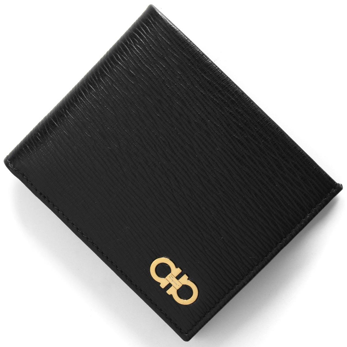 フェラガモ 二つ折り財布 財布 メンズ リバイバル ダブル ガンチーニ ブラック 66A065 NERO 0685980 SALVATORE FERRAGAMO