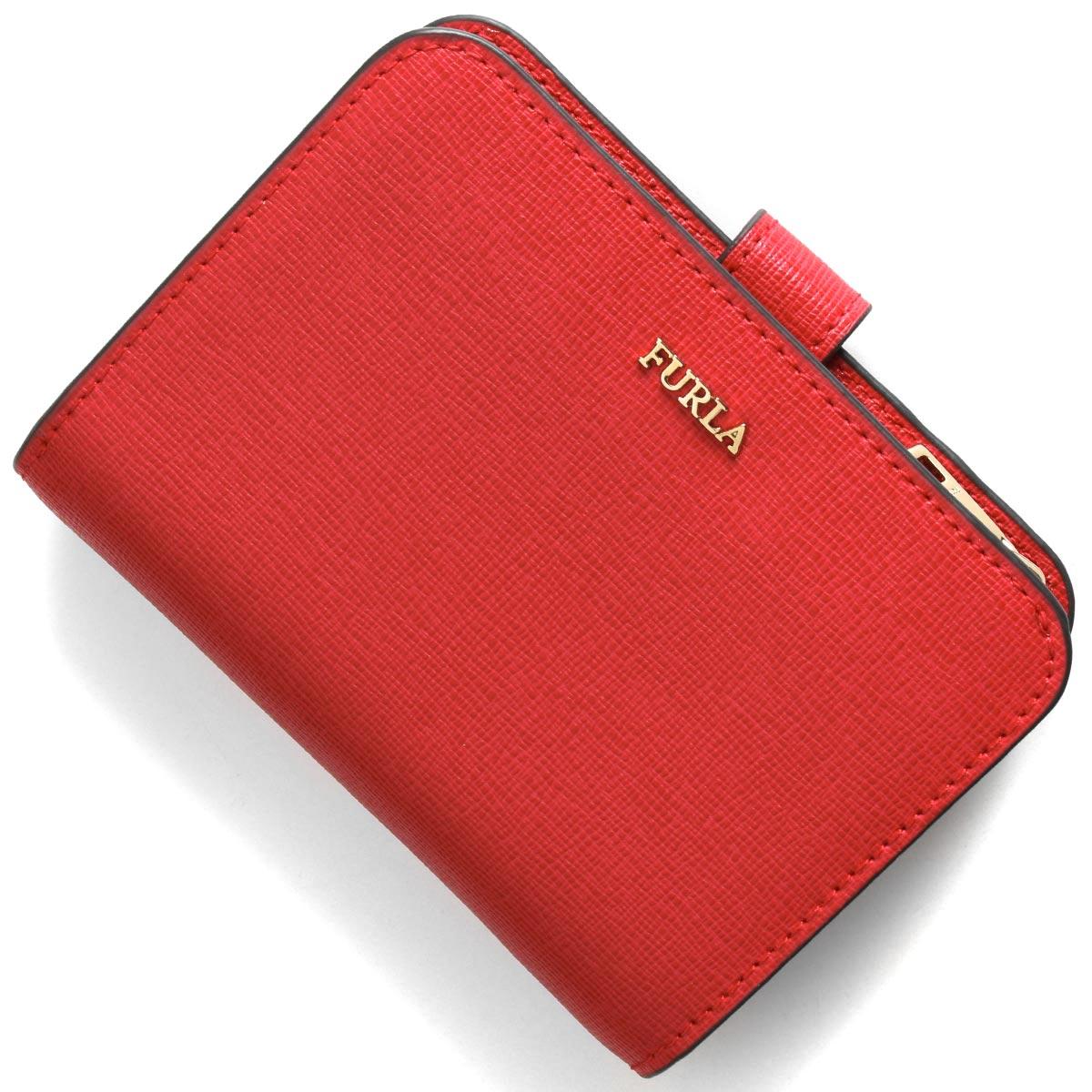 フルラ 二つ折り財布 財布 レディース バビロン スモール ルビーレッド PBF8 B30 RUB 1000420 FURLA
