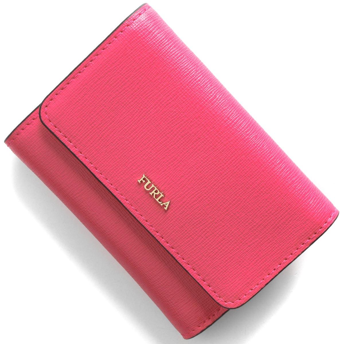 フルラ 三つ折り財布 財布 レディース バビロン スモール リップスティックピンク PR76 B30 TJA 1046188 FURLA
