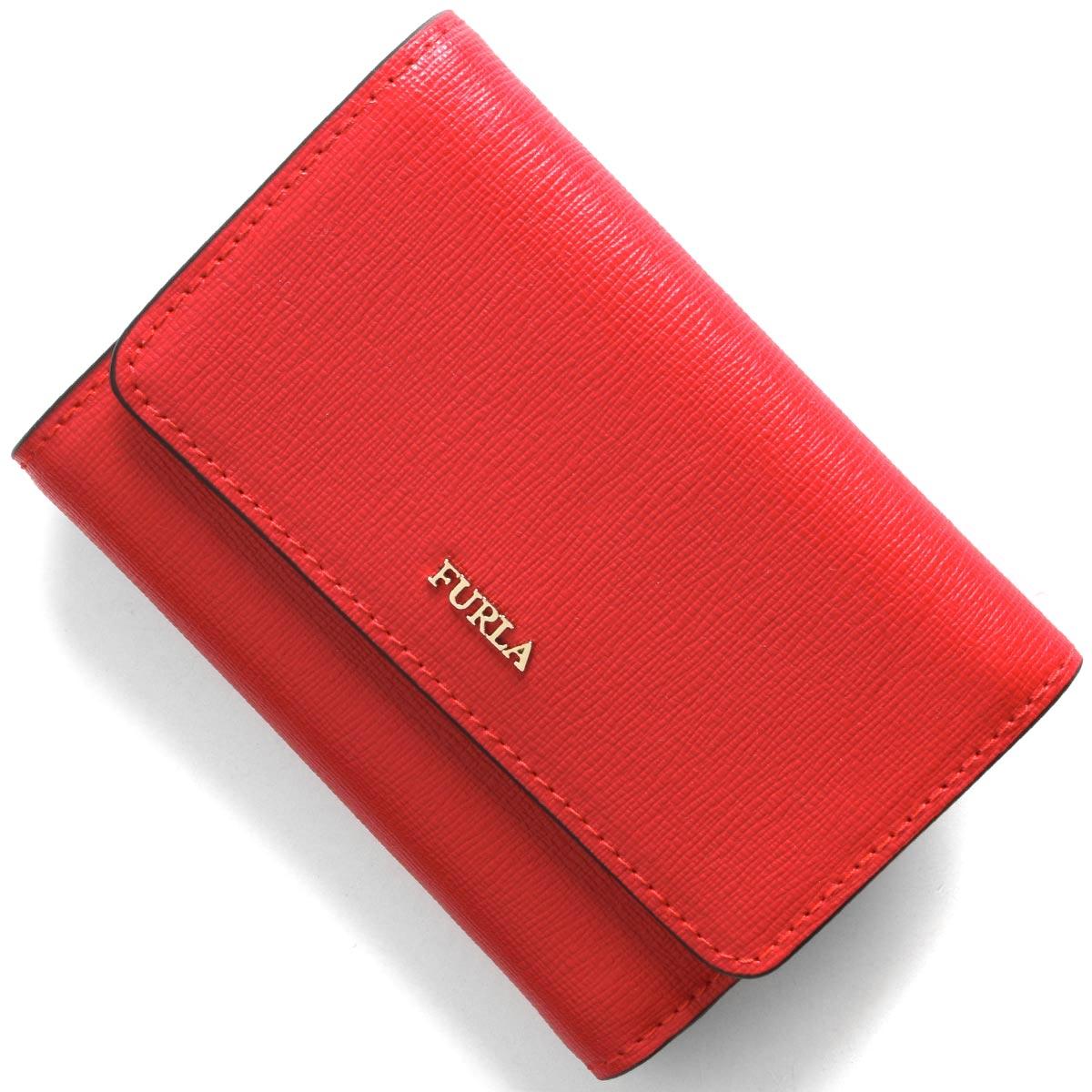 フルラ 三つ折り財布 財布 レディース バビロン スモール フラーゴラレッド PR76 B30 TJ9 1046190 FURLA