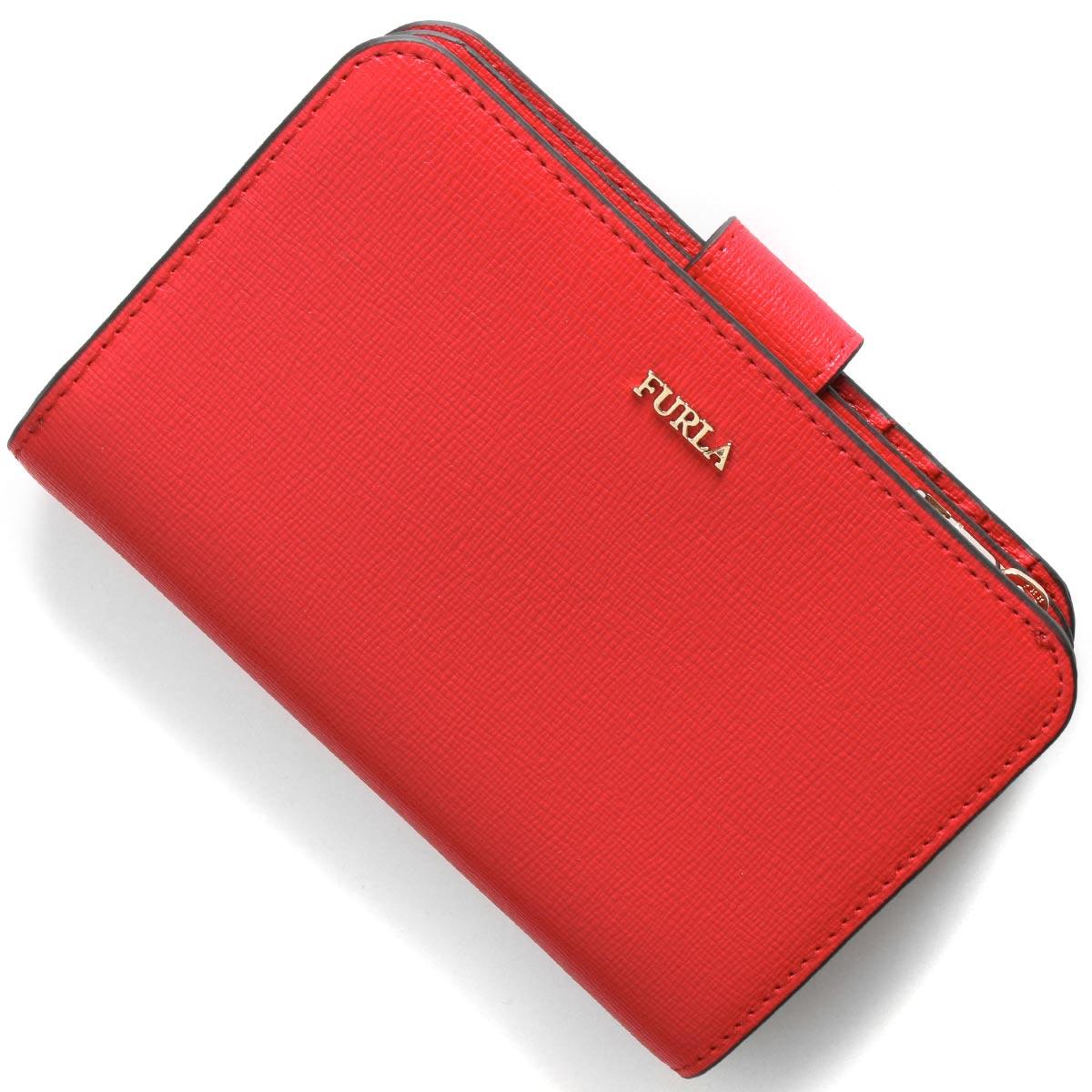 フルラ 二つ折り財布 財布 レディース バビロン ミディアム フラーゴラレッド PR85 B30 TJ9 1046238 FURLA