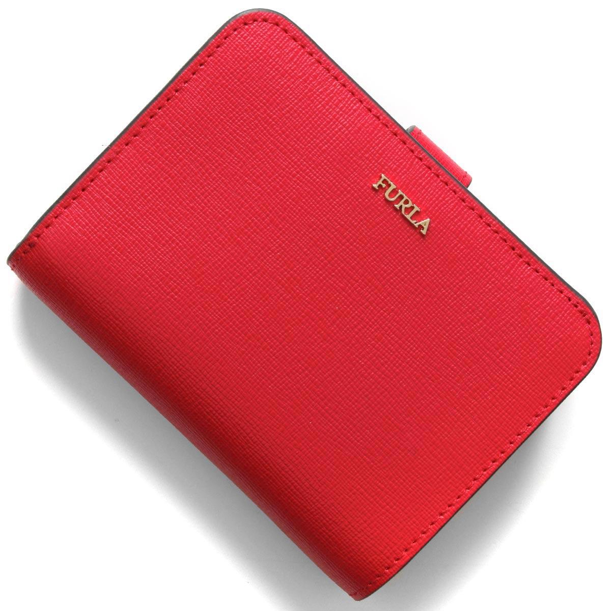 フルラ 二つ折り財布 財布 レディース バビロン スモール フラーゴラレッド PBF8 B30 TJ9 1046240 FURLA
