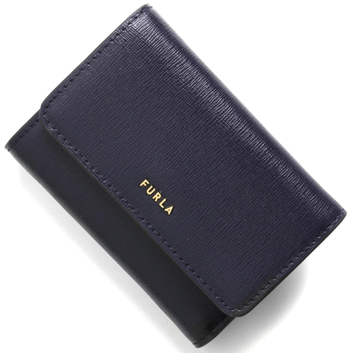 フルラ 三つ折り財布 財布 レディース バビロン スモール オセアノネイビー PCZ0 B30 07A 1056943 2020年春夏新作 FURLA