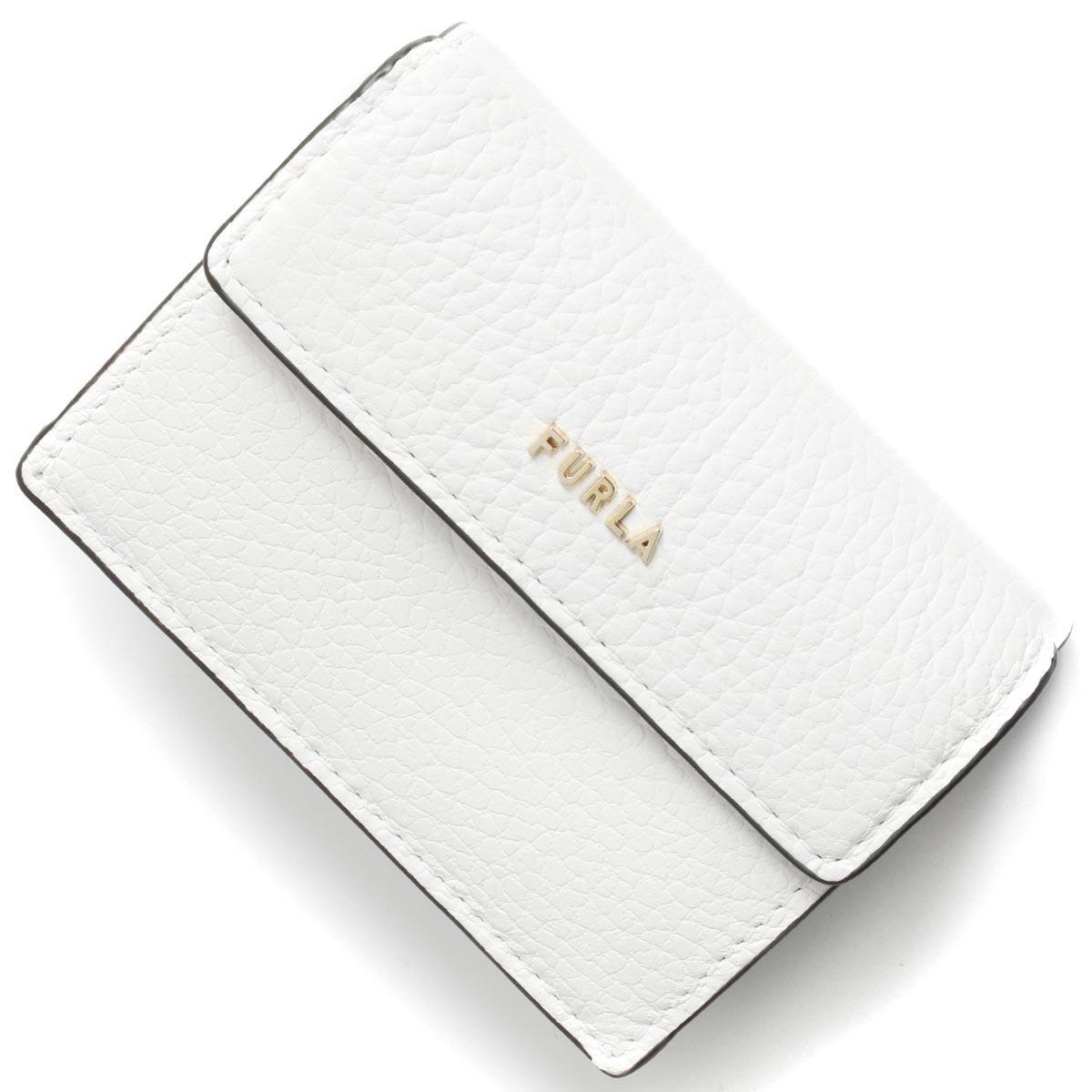 フルラ 三つ折り財布/ミニ財布 財布 レディース バビロン スモール タルコホワイト PCY9 HSF 01B 1056960 FURLA