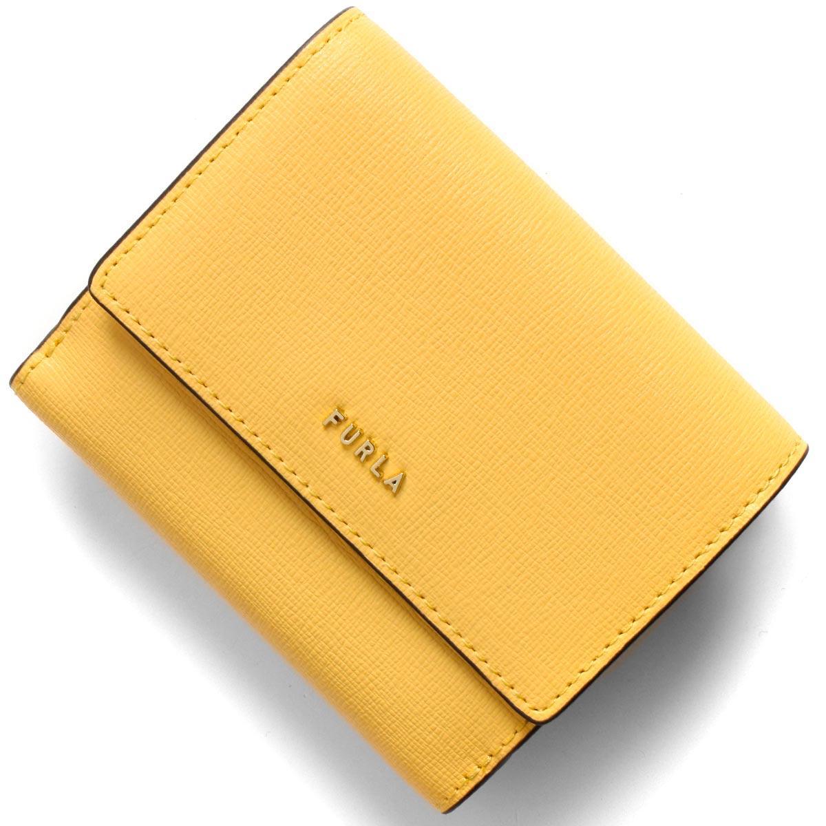 フルラ 二つ折り財布 財布 レディース バビロン スモール ソールイエロー PCY8 B30 01A 1056970 FURLA