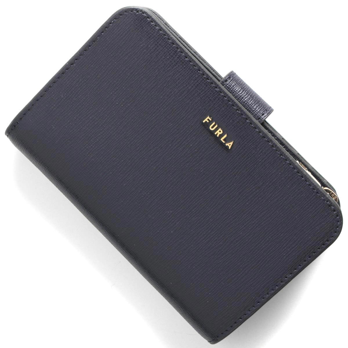フルラ 二つ折り財布 財布 レディース バビロン ミディアム オセアノネイビー PCX9 B30 07A 1057134 FURLA