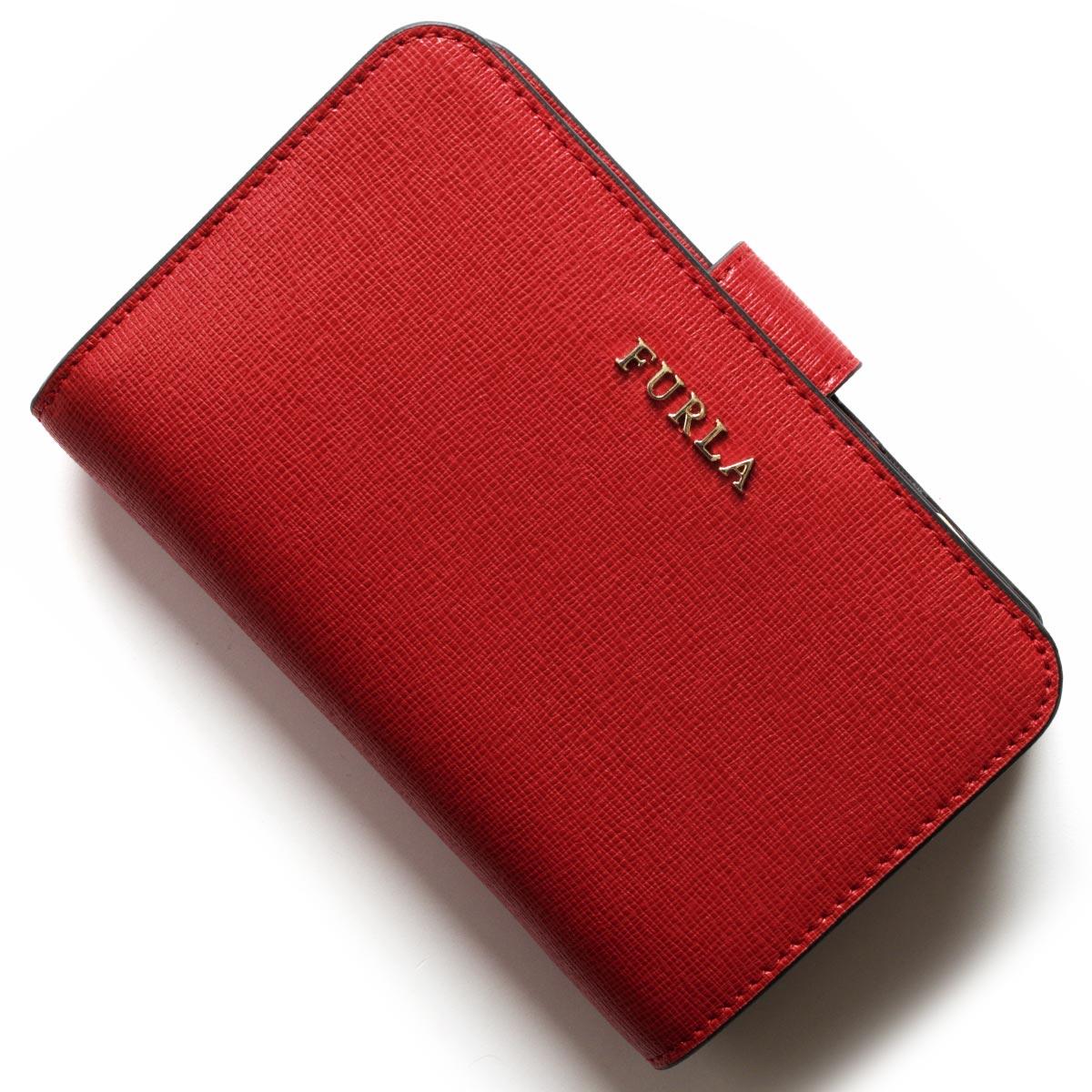 フルラ 二つ折り財布 財布 レディース バビロン ルビーレッド PR85 B30 RUB 875396 FURLA