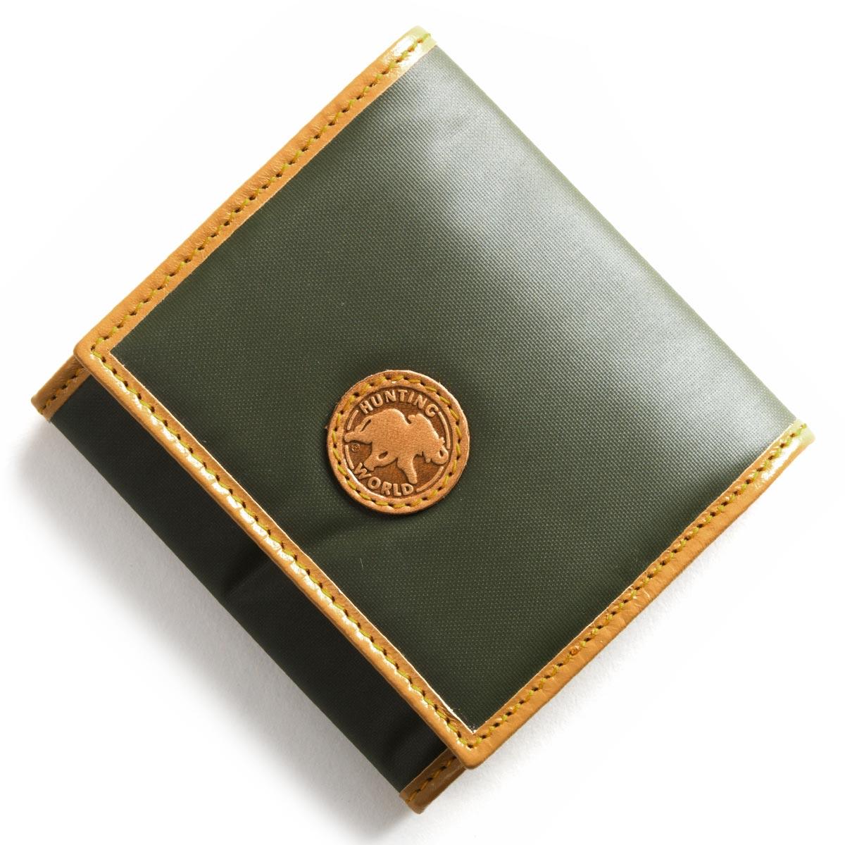 ハンティングワールド コインケース【小銭入れ】 財布 メンズ レディース バチュー オリジン BATTUE ORIGIN グリーン&ビンテージナチュラル 13 10A HUNTING WORLD