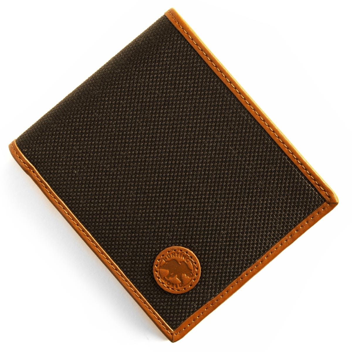 【最大3万円割引クーポン 11/01~】ハンティングワールド 二つ折り財布 財布 メンズ アドゥービ ADOBE ダークブラウン&オレンジ 674 435 HUNTING WORLD
