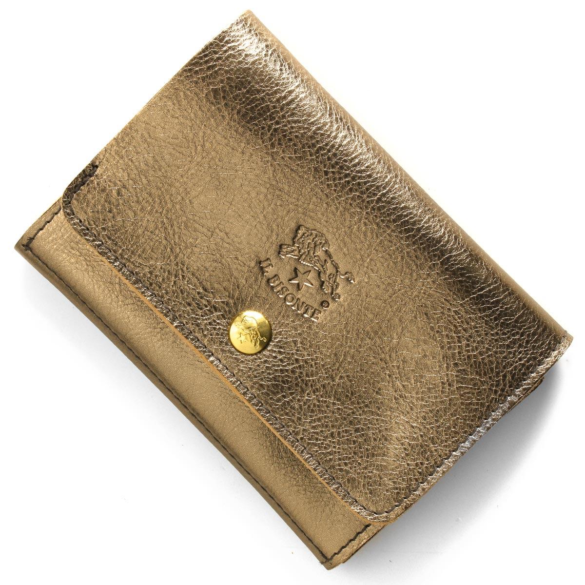 イルビゾンテ 二つ折り財布 財布 メンズ レディース スタンダード ブロンズゴールド C0522 PE 546 IL BISONTE
