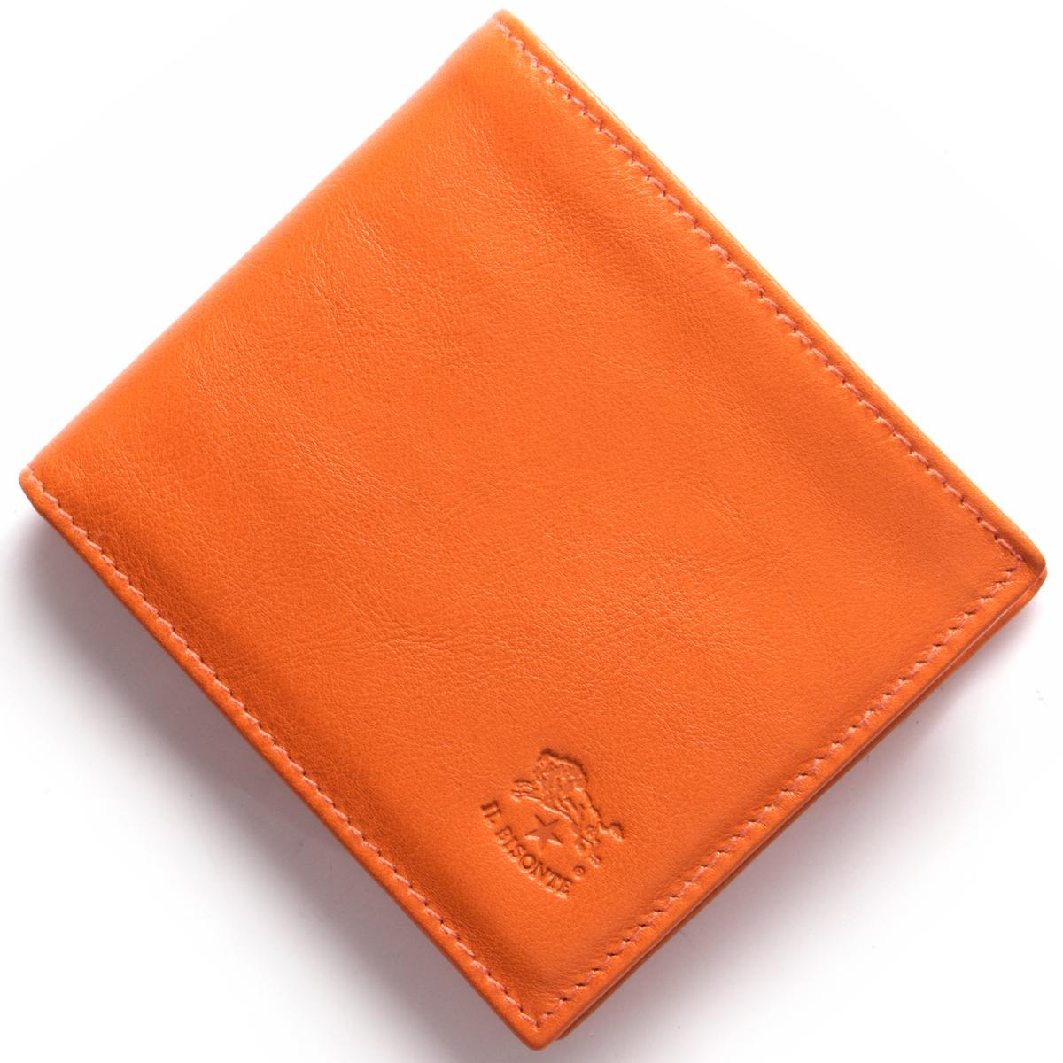 【最大3万円割引クーポン 11/01~】イルビゾンテ 二つ折り財布 財布 メンズ レディース スタンダード オレンジ C0817 P 166 IL BISONTE