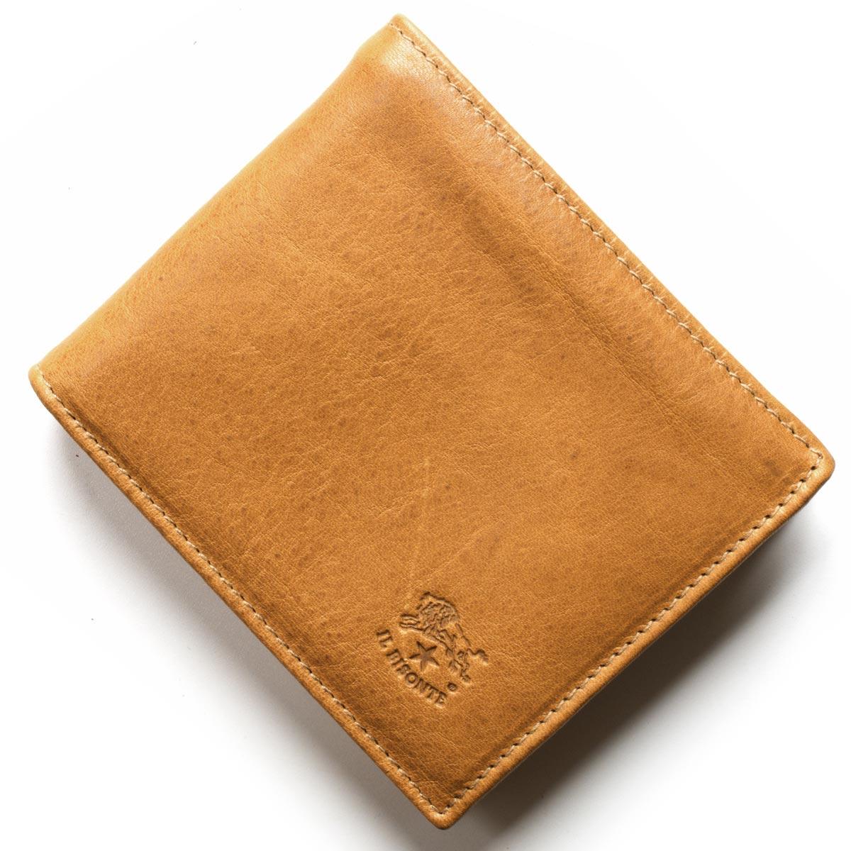 【最大3万円割引クーポン 11/01~】イルビゾンテ 二つ折り財布 財布 メンズ レディース スタンダード ペトラブラウン C0817 PO 681 IL BISONTE