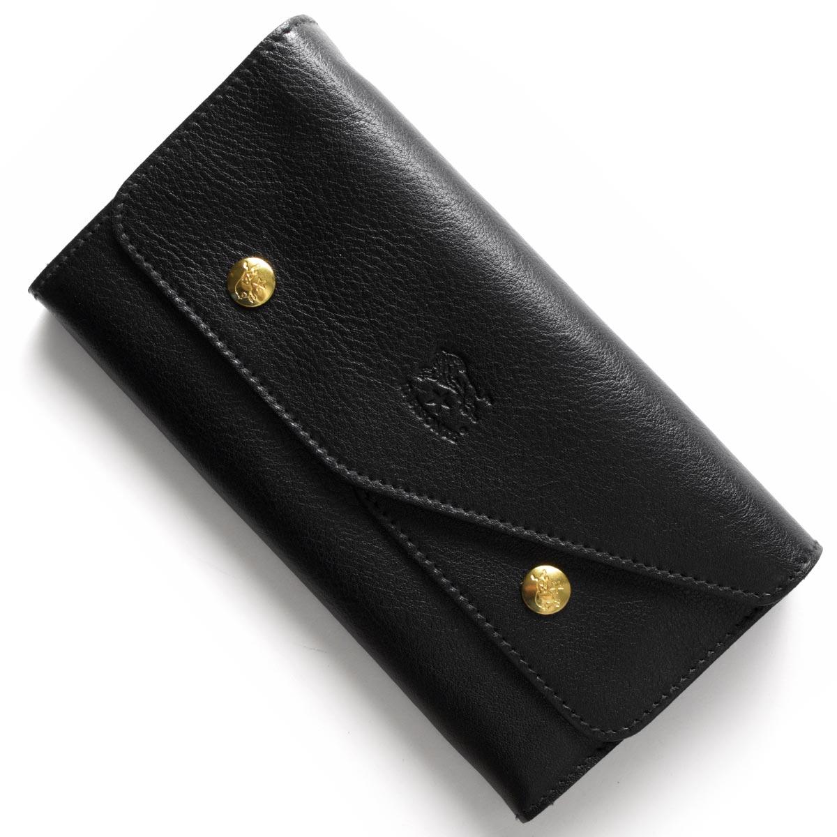 【最大3万円割引クーポン 11/01~】イルビゾンテ 長財布 財布 メンズ レディース ブラック C0881 P 153 IL BISONTE