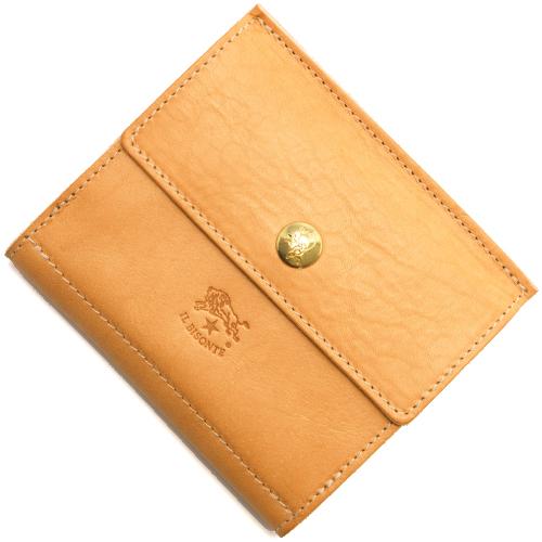 イルビゾンテ 二つ折り財布 財布 メンズ レディース ナチュラル C0910 P 120 IL BISONTE