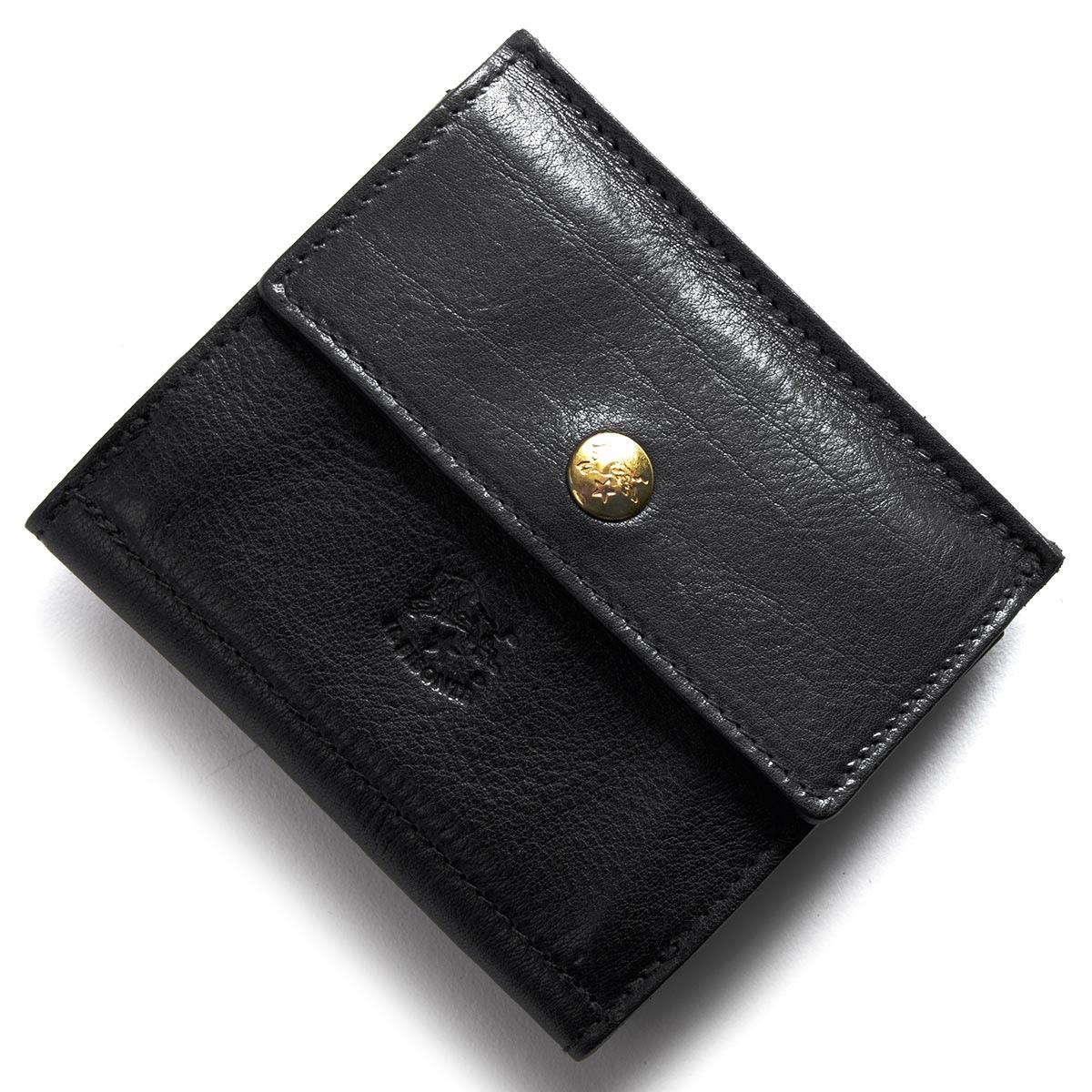 イルビゾンテ 二つ折り財布/三つ折り財布 財布 メンズ レディース スタンダード STANDARD ブラック C0910 P 153 IL BISONTE