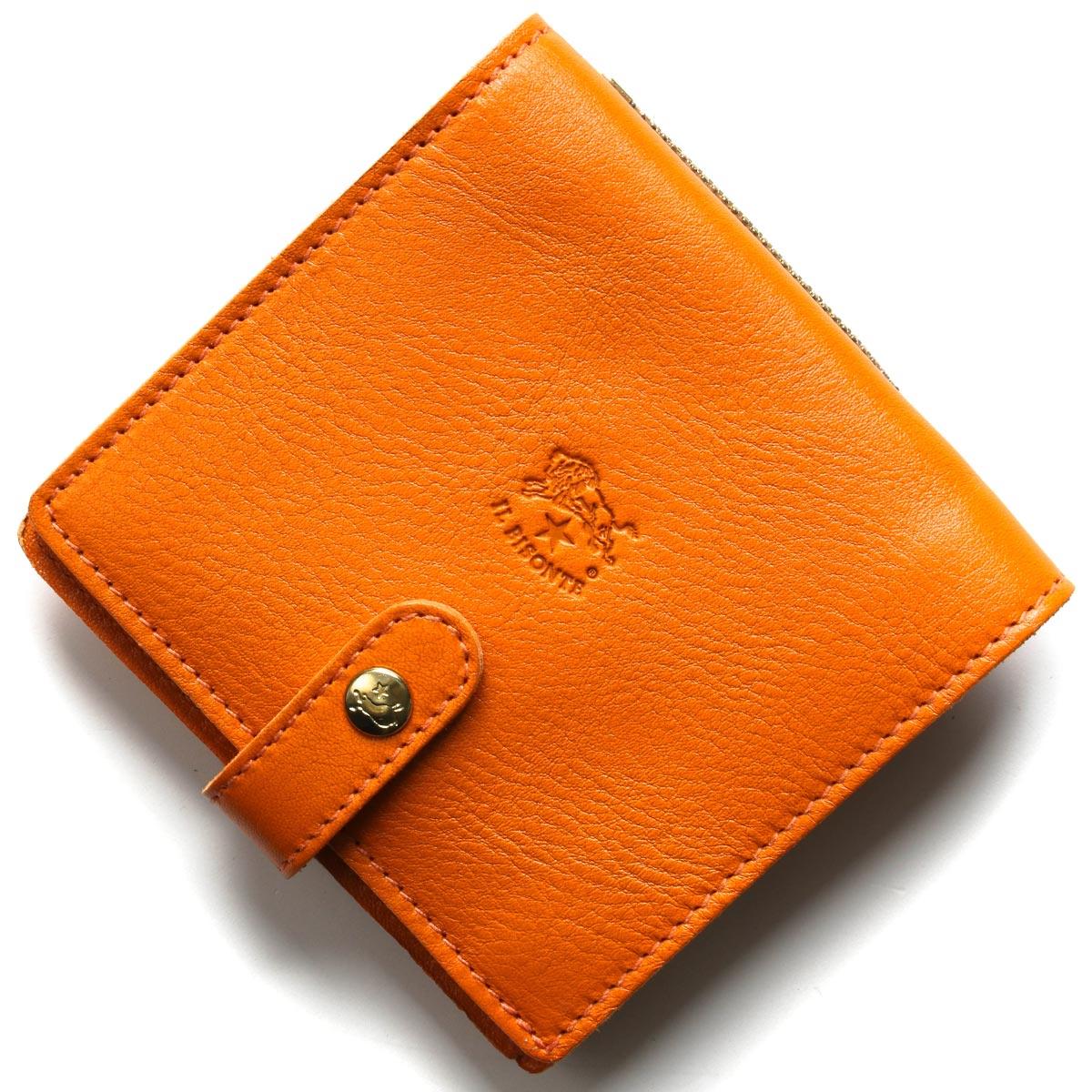 イルビゾンテ 二つ折り財布 財布 メンズ レディース スタンダード オレンジ C0962 P 166 IL BISONTE