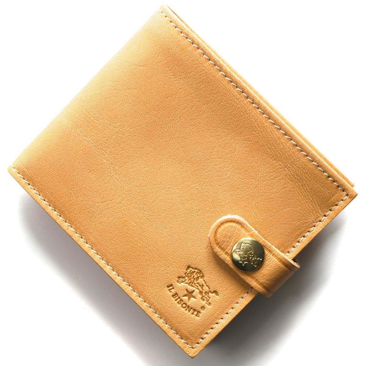 イルビゾンテ 二つ折り財布 財布 メンズ レディース スタンダード ナチュラルベージュ C1007 P 120 IL BISONTE