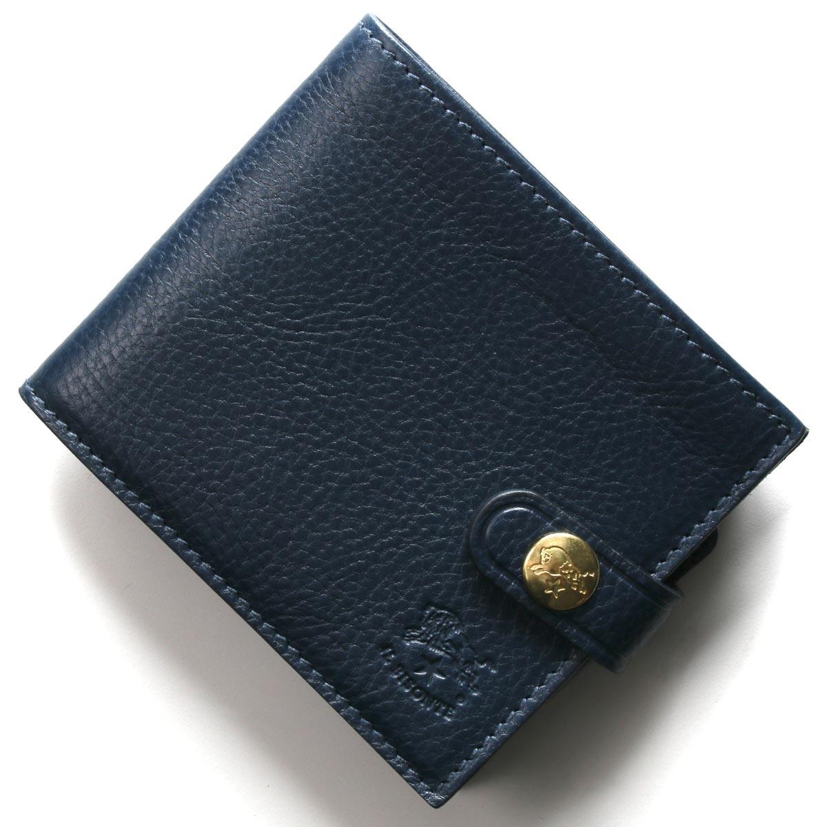 イルビゾンテ 二つ折り財布 財布 メンズ レディース スタンダード ブルー C1007 P 866 IL BISONTE