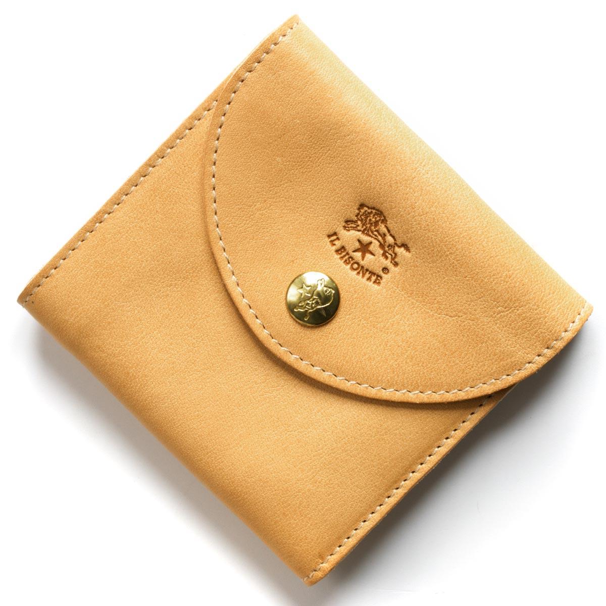 イルビゾンテ 三つ折り財布 財布 メンズ レディース スタンダード ナチュラル C1065 P 120 IL BISONTE