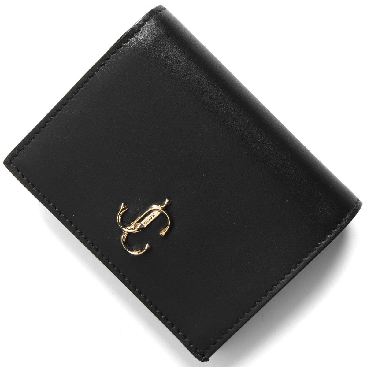 ジミーチュウ 二つ折り財布 財布 レディース ハンネ JCロゴ ブラック HANNE PKR 010003 BLACK JIMMY CHOO