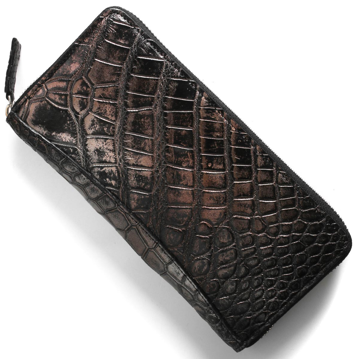 本革 長財布 財布 メンズ レディース クロコ アンティークカッパー CRS002P ANTCO Leather