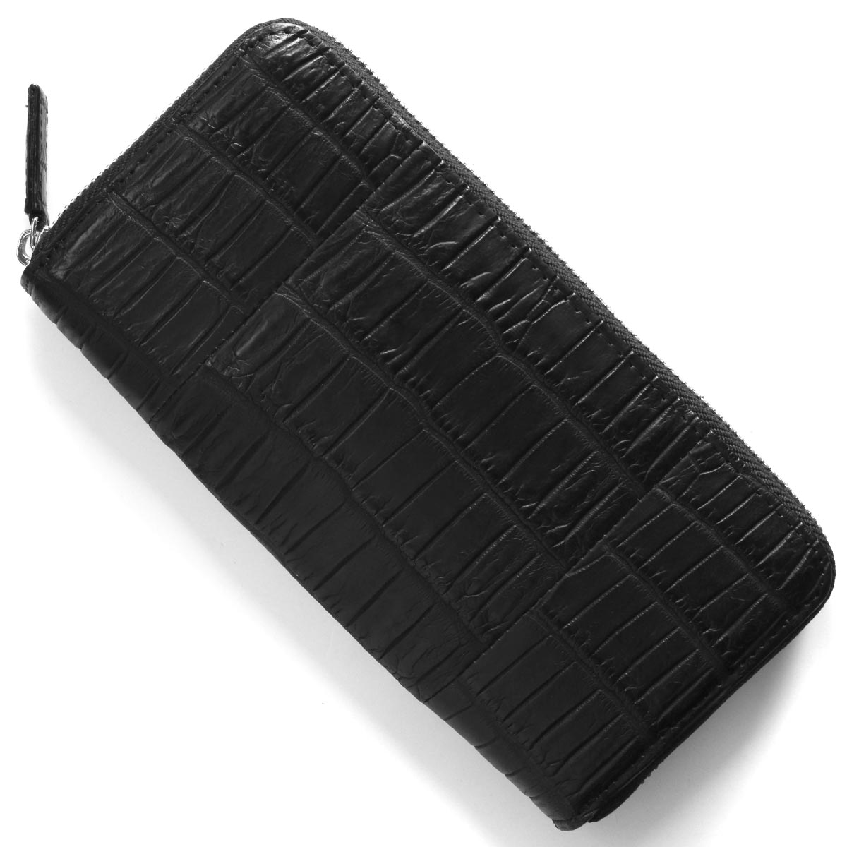 本革 長財布 財布 メンズ レディース クロコ ブラック CRS1836 BLK Leather