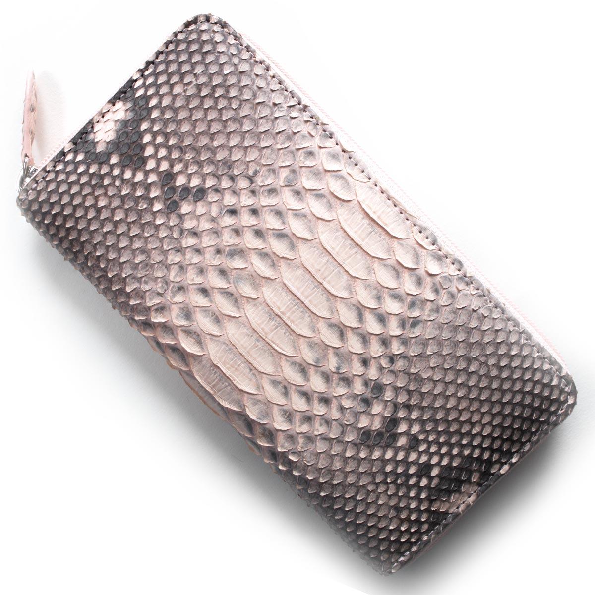 本革 長財布 財布 レディース パイソン PYTHON ピンク OKU6754 PK Leather