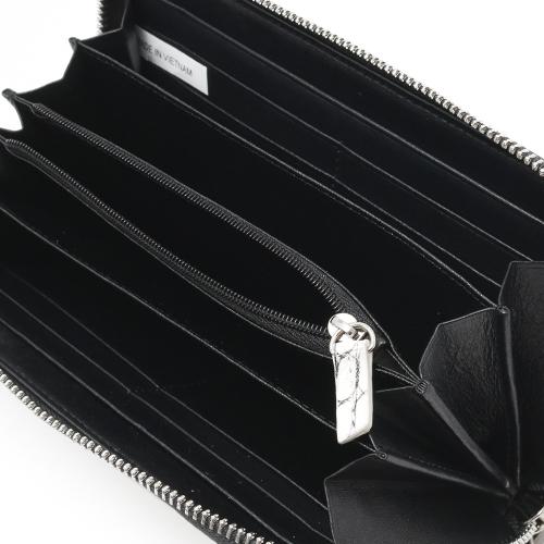 本革 長財布 財布 メンズ レディース クロコ 【CROCODILE】 ヴァニラホワイト OKUC262 VWH Leather