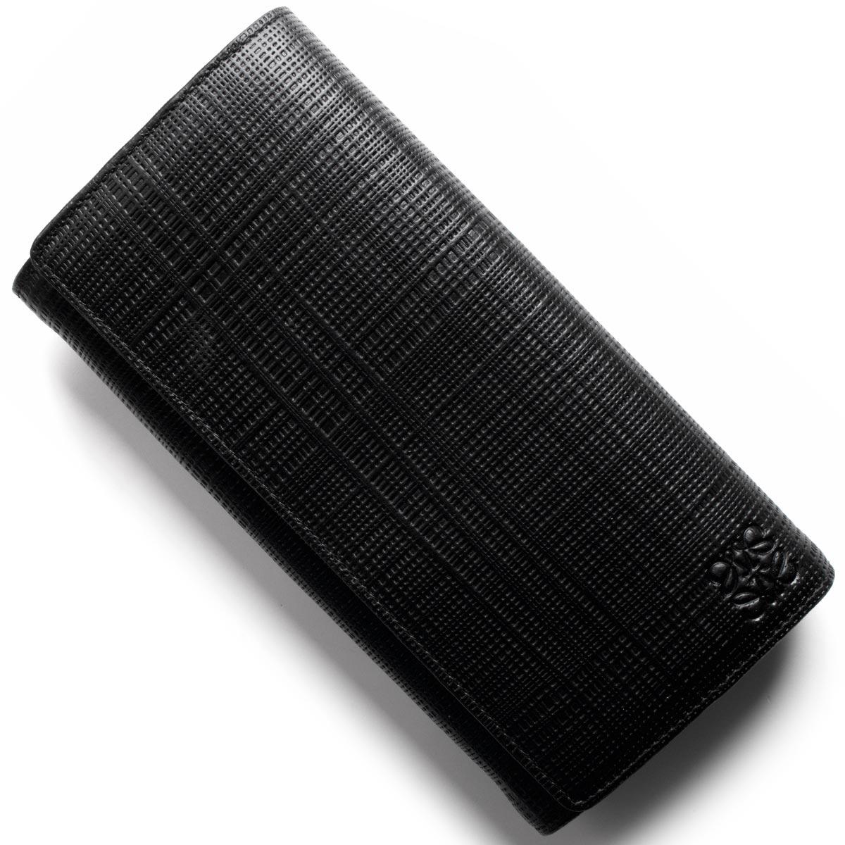 【最大3万円割引クーポン 11/01~】ロエベ 長財布 財布 メンズ レディース リネン ブラック 101 K98 88 1100 LOEWE
