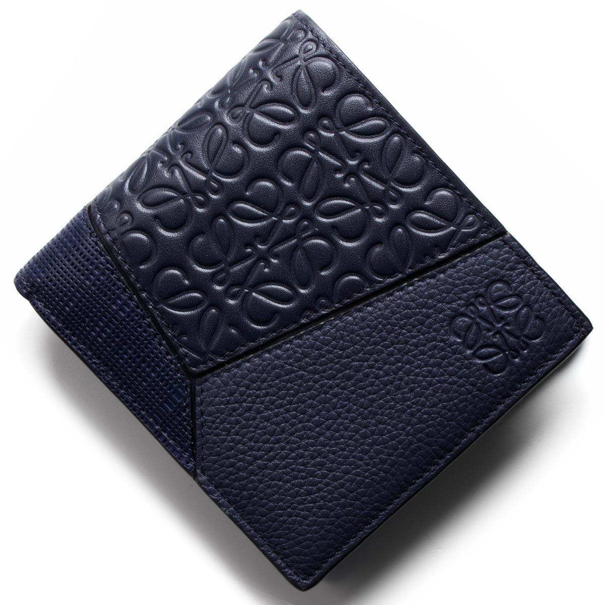 d8a6a6aac5b3 124 ネイビーブルー パズル レディース メンズ 財布 二つ折り財布 11/01 ...