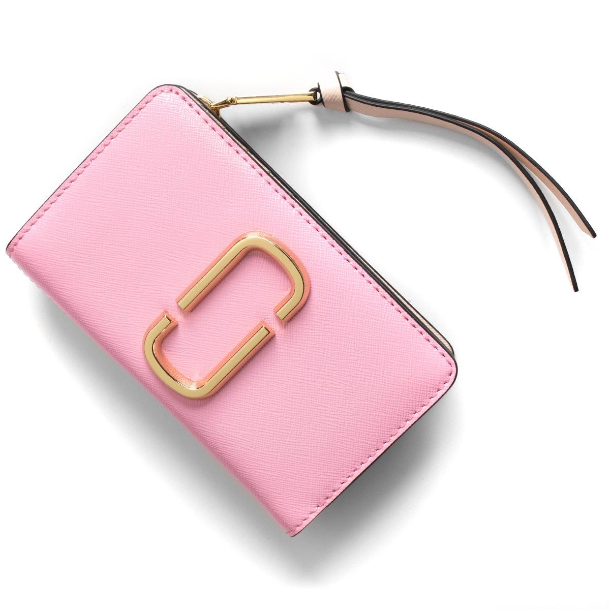マークジェイコブス 二つ折り財布 財布 レディース スナップショット パウダーピンクマルチ M0013356 680 2020年春夏新作 MARC JACOBS