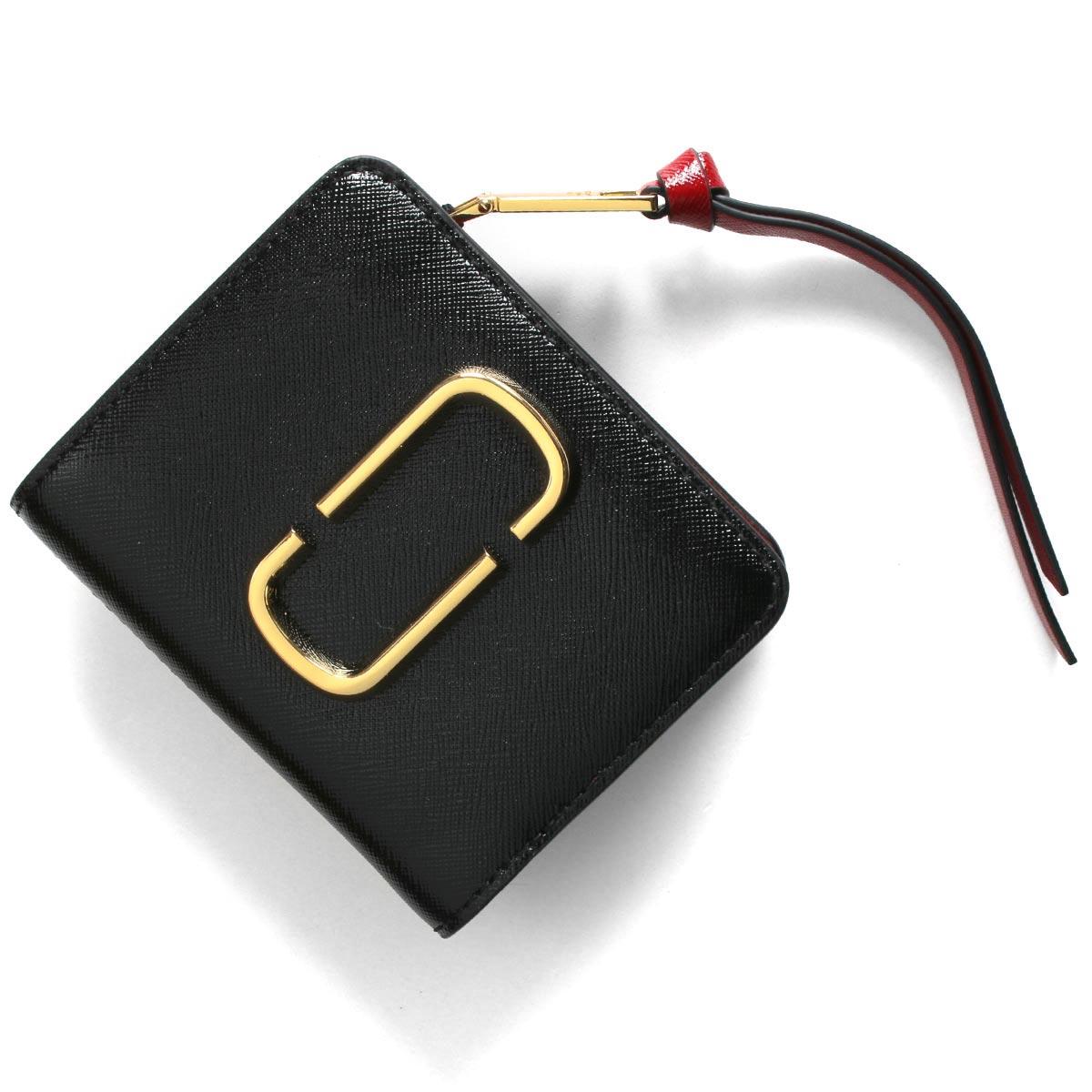 マークジェイコブス 二つ折り財布/ミニ財布 財布 レディース スナップショット ブラック&キャンティレッドマルチ M0013360 014 2020年春夏新作 MARC JACOBS