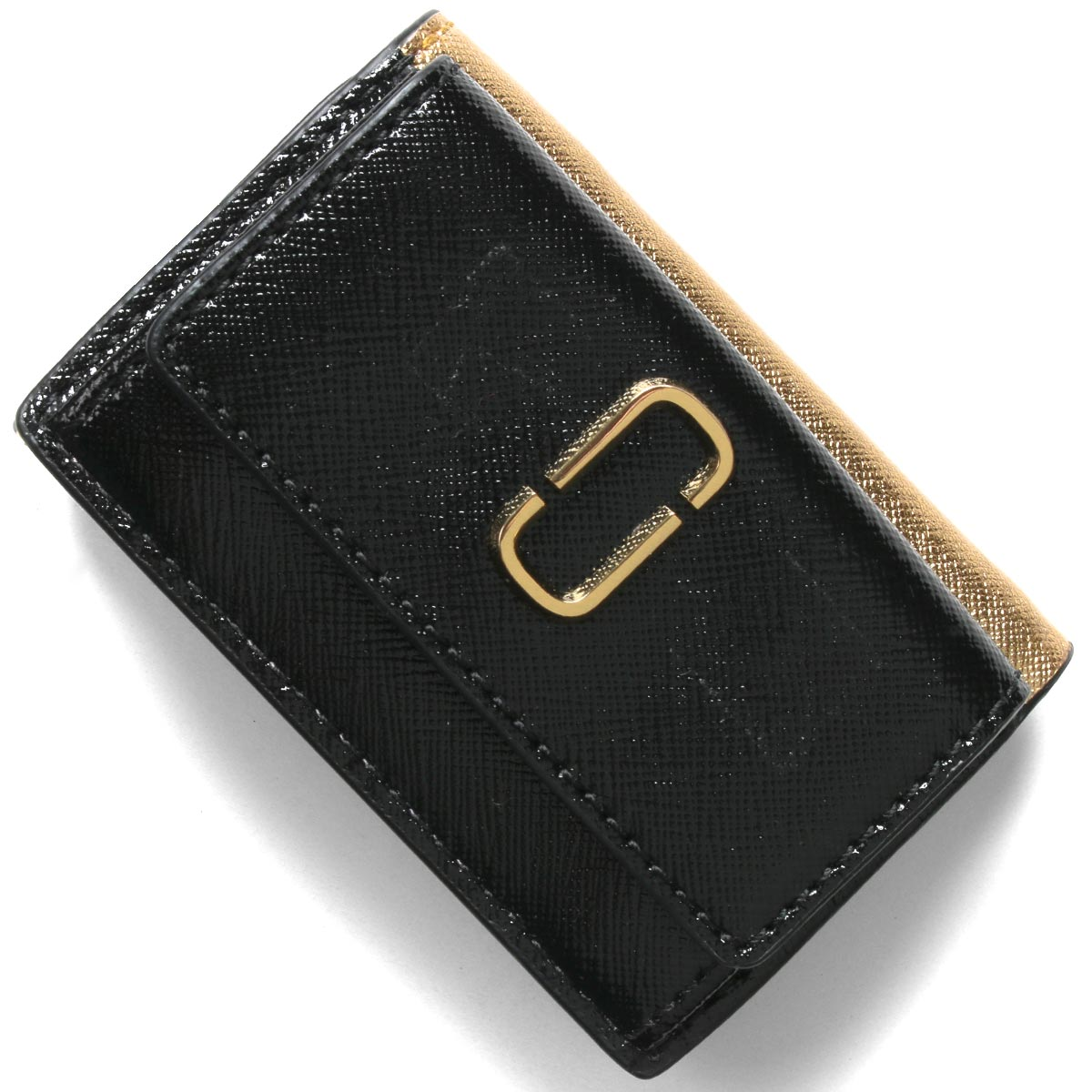 マークジェイコブス 三つ折り財布/ミニ財布 財布 レディース スナップショット ダブルJロゴ ニューブラックマルチ M0014492 003 2020年春夏新作 MARC JACOBS