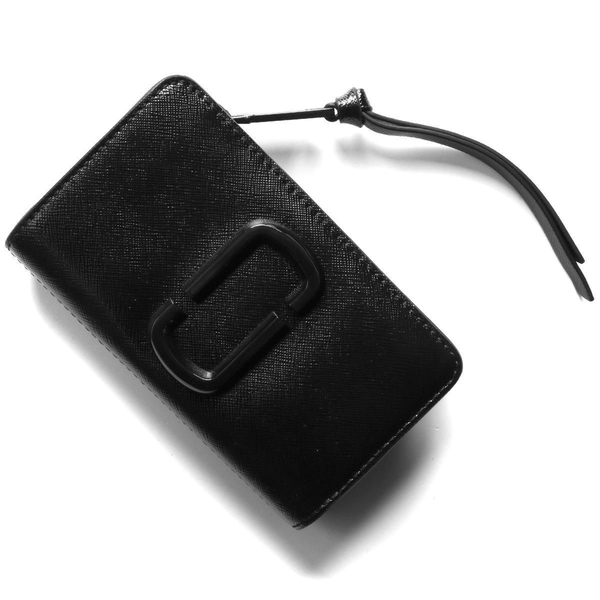 マークジェイコブス 二つ折り財布 財布 レディース スナップショット ダイ トゥー マッチ ダブルJロゴ ブラック M0014528 001 2020年春夏新作 MARC JACOBS