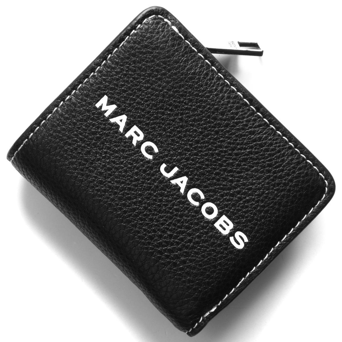 マークジェイコブス 二つ折り財布/ミニ財布 財布 レディース ザ テクスチャード タグ ミニ ブラック M0014982 001 2019年秋冬新作 MARC JACOBS