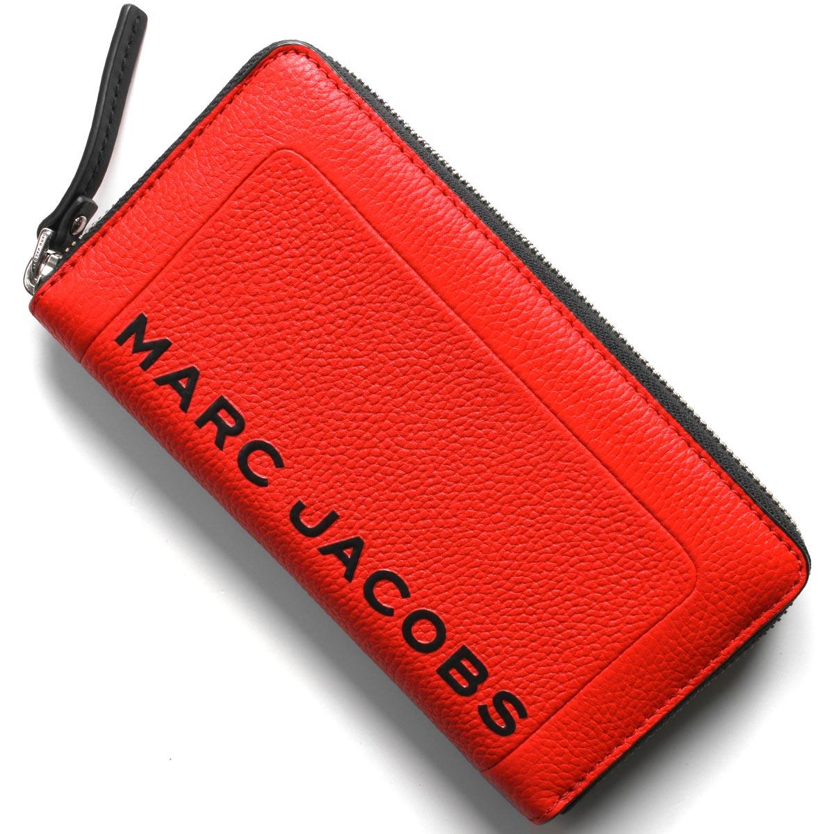 マークジェイコブス 長財布 財布 レディース ザ テクスチャード ボックス ゲラニウムレッド M0015103 612 2019年春夏新作 MARC JACOBS