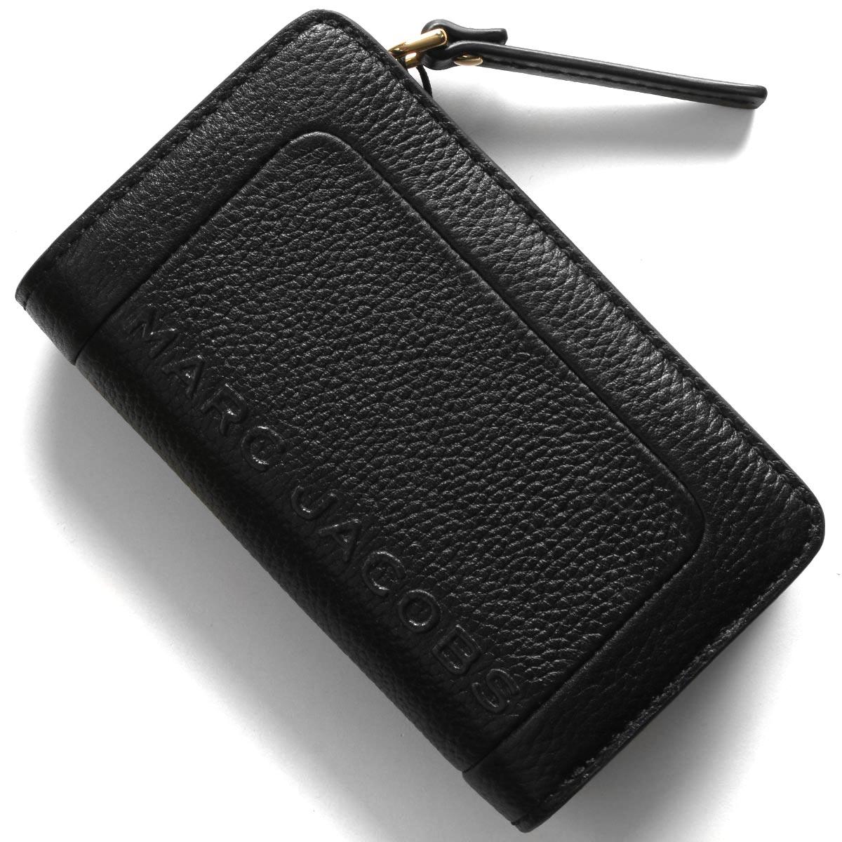 マークジェイコブス 二つ折り財布 財布 レディース ザ テクスチャード ボックス ブラック M0015105 001 2020年春夏新作 MARC JACOBS
