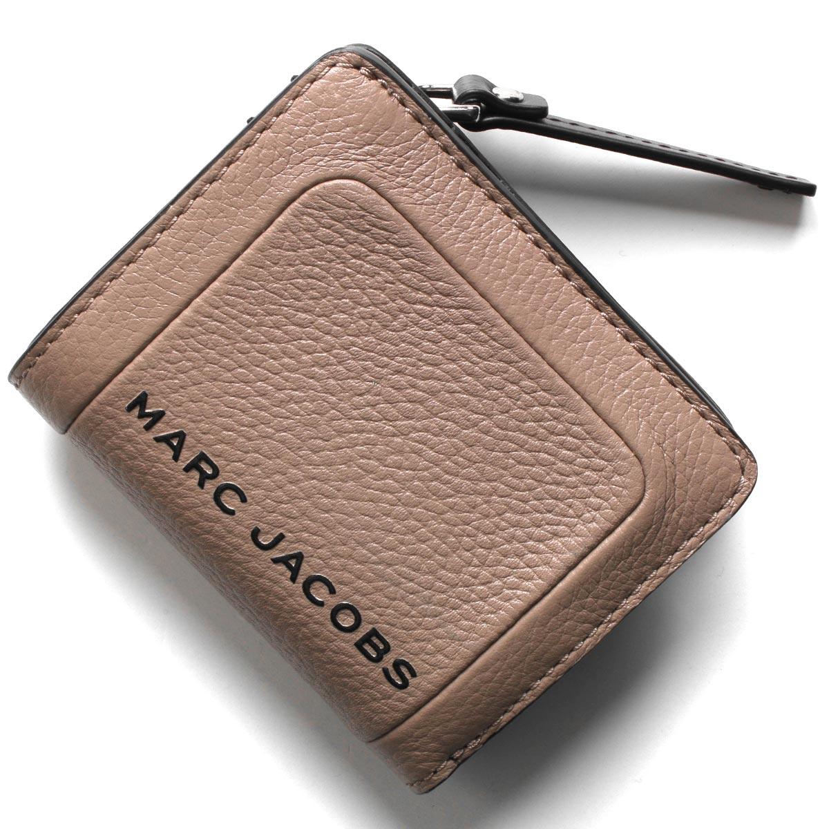 マークジェイコブス 二つ折り財布 財布 レディース ザ テクスチャード ボックス ベージュ M0015107 260 MARC JACOBS