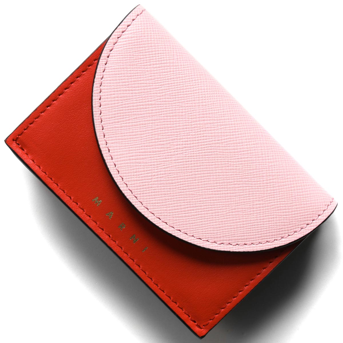 マルニ 三つ折り財布/ミニ財布 財布 レディース シンダーローズピンク&レッド&マロンブラウン PFMO0001Q2 LV589 Z2G08 MARNI