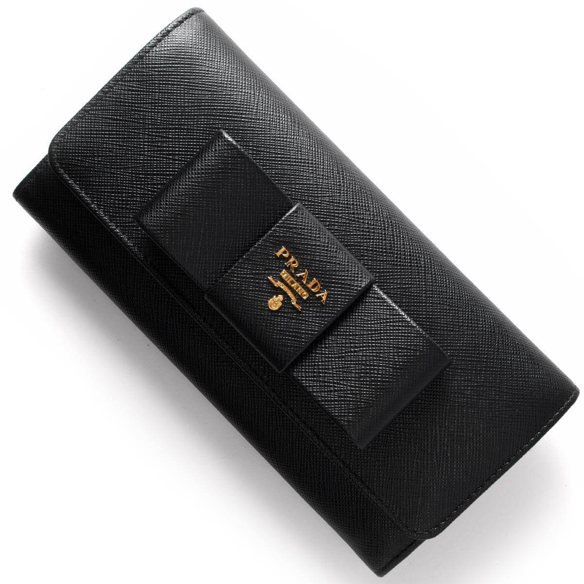 プラダ 長財布 財布 レディース サフィアーノ フィオッコ ブラック 1MH132 ZTM F0002 PRADA