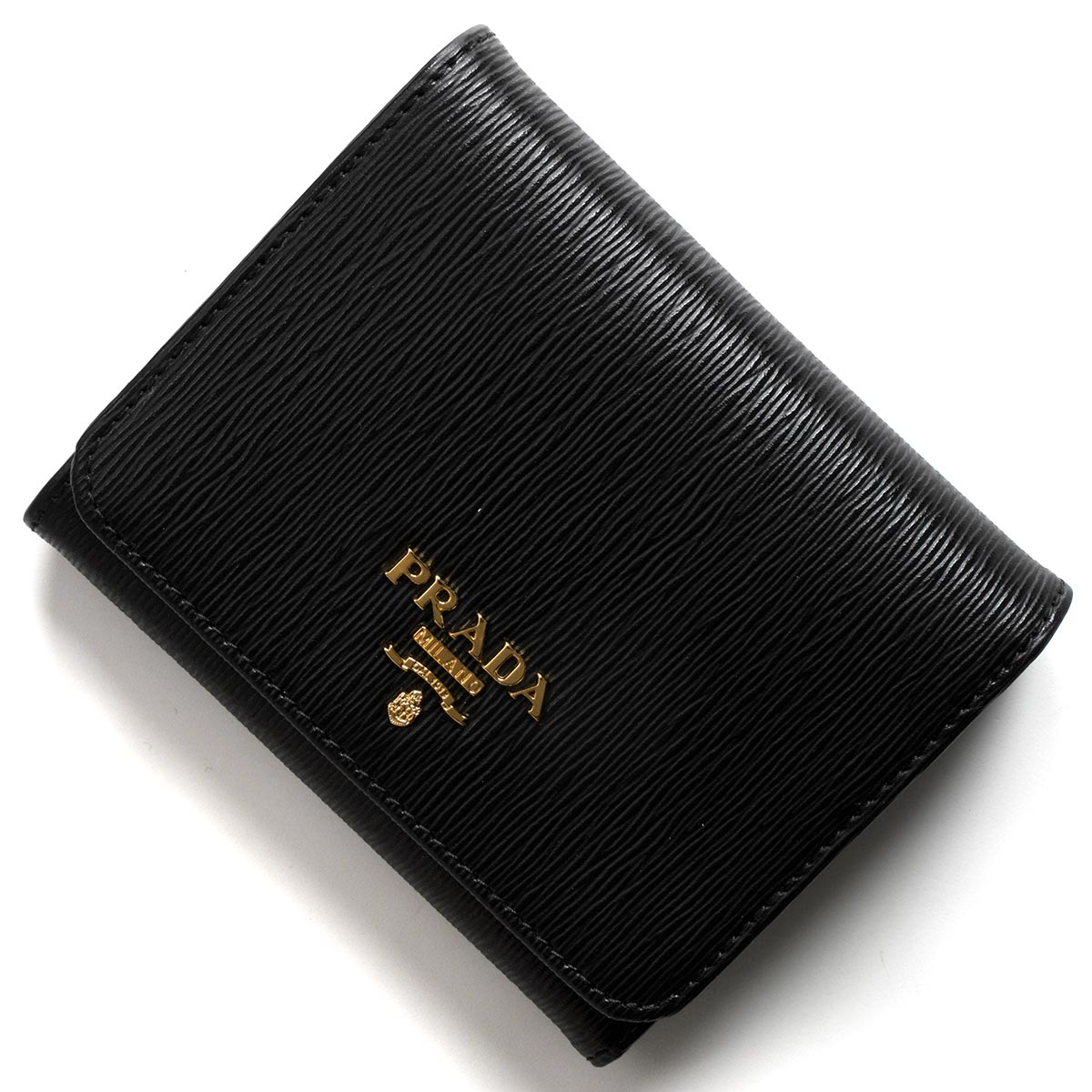 プラダ 三つ折り財布 財布 レディース ヴィッテロ ムーヴ ブラック 1MH176 2EZZ F0002 PRADA