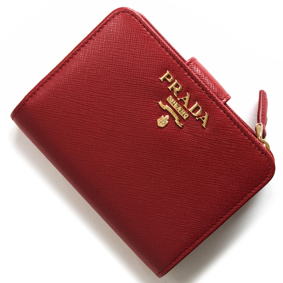 プラダ 二つ折り財布 財布 レディース サフィアーノ メタル フォーコレッド 1ML018 QWA F068Z PRADA