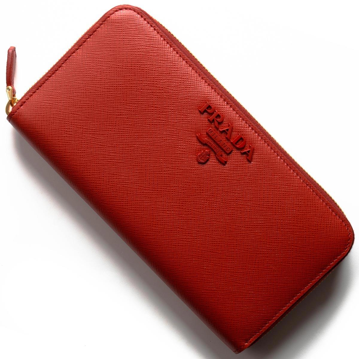 プラダ 長財布 財布 レディース サフィアーノ シャイン フォーコレッド 1ML506 2EBW F068Z PRADA